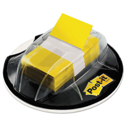 Post-it® Page Flags in Desk Grip Dispenser, 1 x 1 3/4, Yellow, 200/Dispenser