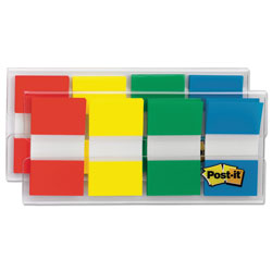 Post-it® Page Flags in Portable Dispenser, Assorted Primary, 160 Flags/Dispenser