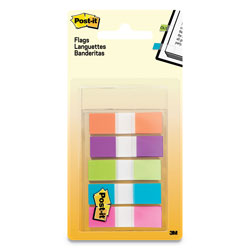 Post-it® Page Flags in Portable Dispenser, Assorted Brights, 5 Dispensers, 20 Flags/Color
