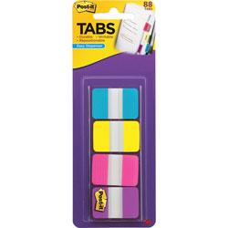 Post-it® Dispenser Tabs, 1 in x 1.5 in, 88 Tabs, 22 ea. AA/YW/PK/VT