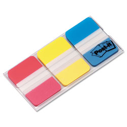 Post-it® 1 in Tabs, 1/5-Cut Tabs, Assorted Primary Colors, 1 in Wide, 66/Pack