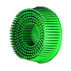 "Scotch™ 2"" Roloc Bristle Discs 50 Grit Coarse Green"