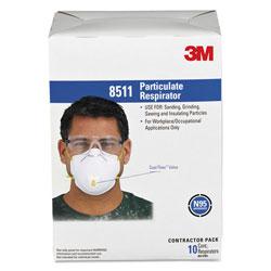 3M Particulate Respirator w/Cool Flow Exhalation Valve, 10 Masks/Box