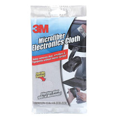3M Microfiber Electronics Cleaning Cloth, 12 x 14, White