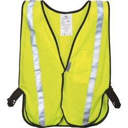 3M Safety Vest, Reflective Clothing, One-Size, Adj., Yellow