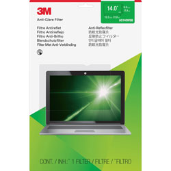 3M Antiglare Flatscreen Frameless Monitor Filters for 14 in Widescreen Notebook