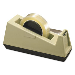 Scotch™ Heavy-Duty Weighted Desktop Tape Dispenser, 3 in Core, Plastic, Putty/Brown