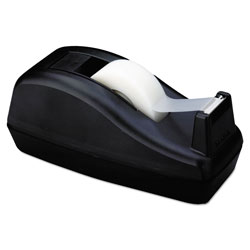 Scotch™ Deluxe Desktop Tape Dispenser, Attached 1 in Core, Heavily Weighted, Black