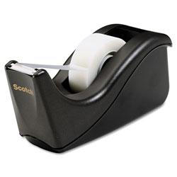 Scotch™ Value Desktop Tape Dispenser, 1 in Core, Two-Tone Black