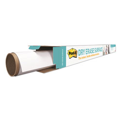 Post-it® Dry Erase Surface with Adhesive Backing, 48 in x 36 in, White