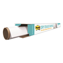 Post-it® Dry Erase Surface with Adhesive Backing, 72 in x 48 in, White