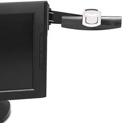 3M Swing Arm Copyholder, Adhesive Monitor Mount, Plastic, 30 Sheet Capacity, Black