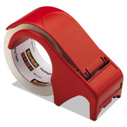 Scotch™ Compact and Quick Loading Dispenser for Box Sealing Tape, 3 in Core, Plastic, Red