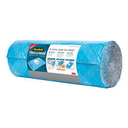 Scotch™ Flex and Seal Shipping Roll, 15 in x 10 ft, Blue/Gray