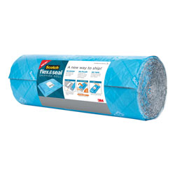 Scotch™ Flex and Seal Shipping Roll, 15 in x 20 ft, Blue/Gray