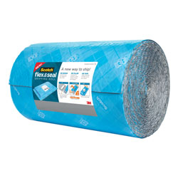 Scotch™ Flex and Seal Shipping Roll, 15 in x 50 ft, Blue/Gray