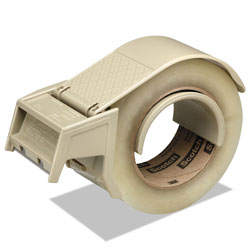 Scotch™ Compact and Quick Loading Dispenser for Box Sealing Tape, 3 in Core, Plastic, Gray
