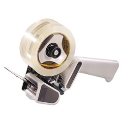Scotch™ H180 Box Sealing Pistol Grip Tape Dispenser, 3 in Core, Plastic/Metal, Gray