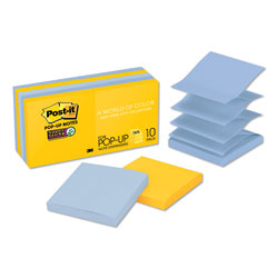 Post-it® Pop-up 3 x 3 Note Refill, New York, 90 Notes/Pad, 10 Pads/Pack
