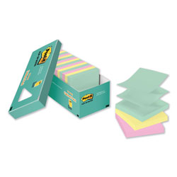 Post-it® Original Pop-up Refill, 3 x 3, Marseille Collection, 100 Sheets/Pad, 18 Pads/Pack