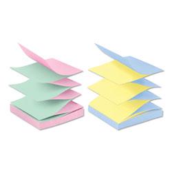 Post-it® Original Pop-up Refill, Alternating Marseille Colors, 3 x 3, 100-Sheet, 12/Pack