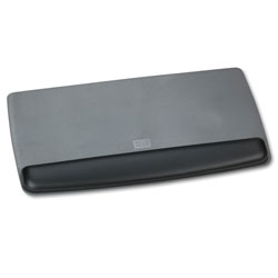 3M Antimicrobial Gel Keyboard Wrist Rest Platform, Black/Gray/Silver