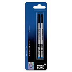 Montblanc Rollerball Pen Refill, Medium Point, Blue