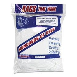 Monarch Cotton Rags, White, 10/Carton