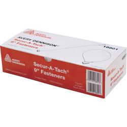 Monarch Fasteners, Secur-A-Tach, 9 inL, 1000 Fasteners, White