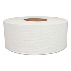 Morcon Paper Jumbo Bath Tissue, Septic Safe, 2-Ply, White, 700 ft, 12 Rolls/Carton