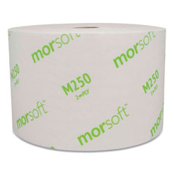 Morcon Paper Small Core Bath Tissue, Septic Safe, 2-Ply, White, 1250/Roll, 24 Rolls/Carton