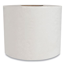 Morcon Paper Morsoft Controlled Bath Tissue, Septic Safe, 2-Ply, White, Band-Wrapped, 500 Sheets/Roll, 24 Rolls/Carton