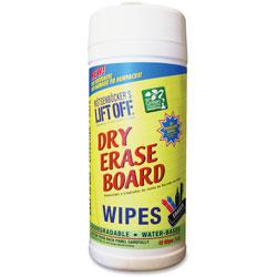 Motsenbocker's Lift-Off® Dry Erase Board Cleaner Wipes, 7 inx12 in, White