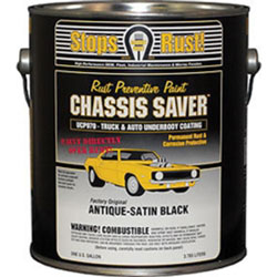 Magnet Paints Chassis Saver Paint, Stops and Prevents Rust, Satin Black, 1 Gallon Can