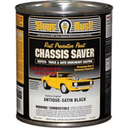 Magnet Paints Chassis Saver Paint, Stops and Prevents Rust, Satin Black, 1 Quart Can