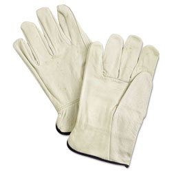 MCR Safety Unlined Pigskin Driver Gloves, Cream, X-Large, 12 Pair