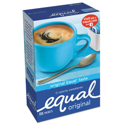 Equal® Zero Calorie Sweetener, 1 g Packet, 115/Box
