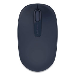 Microsoft Mobile 1850 Wireless Optical Mouse, 2.4 GHz Frequency/16.4 ft Wireless Range, Left/Right Hand Use, Wool Blue