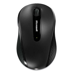 Microsoft Mobile 4000 Wireless Optical Mouse, 2.4 GHz Frequency/15 ft Wireless Range, Left/Right Hand Use, Graphite
