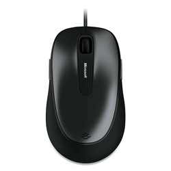 Microsoft Comfort 4500 Wired Optical Mouse, USB, Left/Right Hand Use, Loch Ness Gray