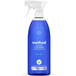 Method Products Glass and Surface Cleaner, Mint, 28 oz Bottle, 8/Carton