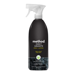 Method Products Daily Granite Cleaner, Apple Orchard Scent, 28 oz Spray Bottle, 8/Carton