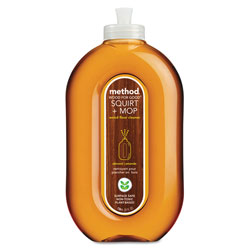 Method Products Squirt + Mop Wood Floor Cleaner, Almond Scent, 25 oz Squirt Bottle, 6/Carton