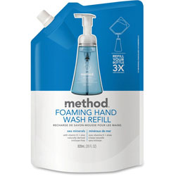 Method Products Foaming Hand Wash Refill, Sea Minerals, 28 oz Pouch, 6/Carton