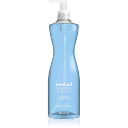 Method Products Dish Soap, Sea Minerals, 18 oz Pump Bottle, 6/Carton
