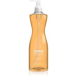 Method Products Dish Soap, Clementine, 18 oz Pump Bottle, 6/Carton