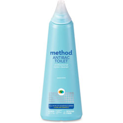 Method Products Antibacterial Toilet Cleaner, Spearmint, 24 oz Bottle, 6/Carton