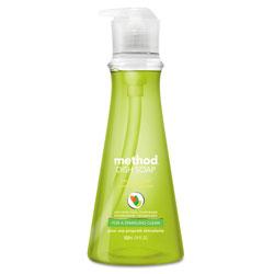 Method Products Dish Soap, Lime & Sea Salt, 18 oz Pump Bottle, 6/Carton