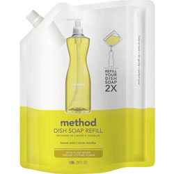 Method Products Dish Soap Refill, Lemon Mint, 36 oz Pouch