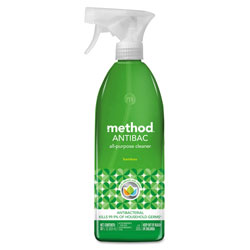 Method Products Antibac All-Purpose Cleaner, Bamboo, 28 oz Spray Bottle, 8/Carton